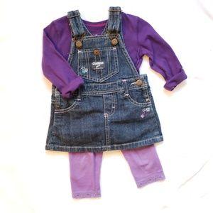 Osh Kosh girl denim jumper 9 months